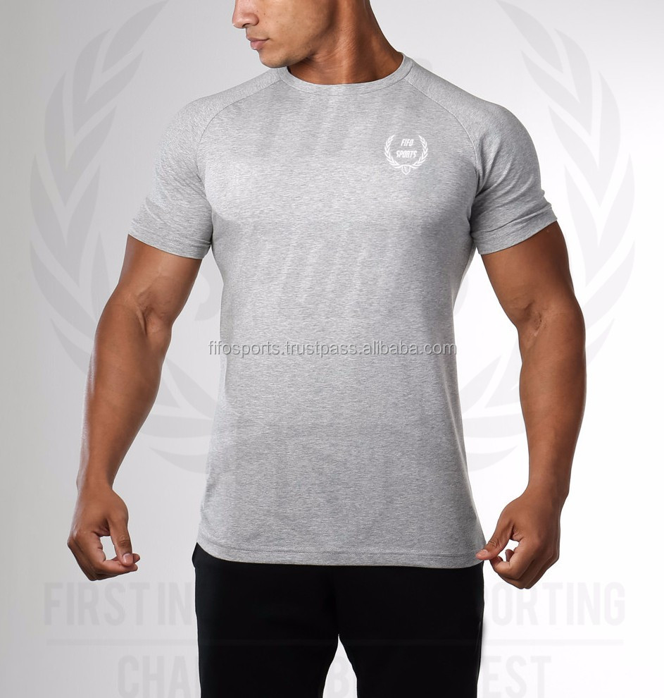Blank t shirts gym / gym t shirt / Best sell large gym t shirt