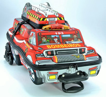 School Backpack With Wheels + Lunch Bag - EVA Thermomolded - 3D - Firefighter Truck