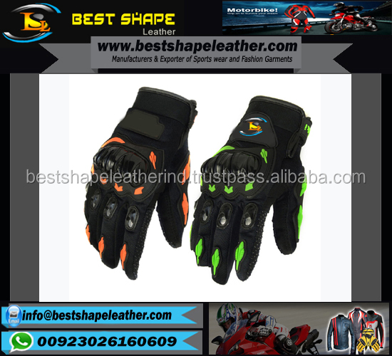LEATHER RACING SPORTS VENTILATED MOTORBIKE RACE MOTORCYCLE GLOVES