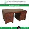 Simple Fashion Wood Study cum Computer Table with Multiple Drawers for Sale