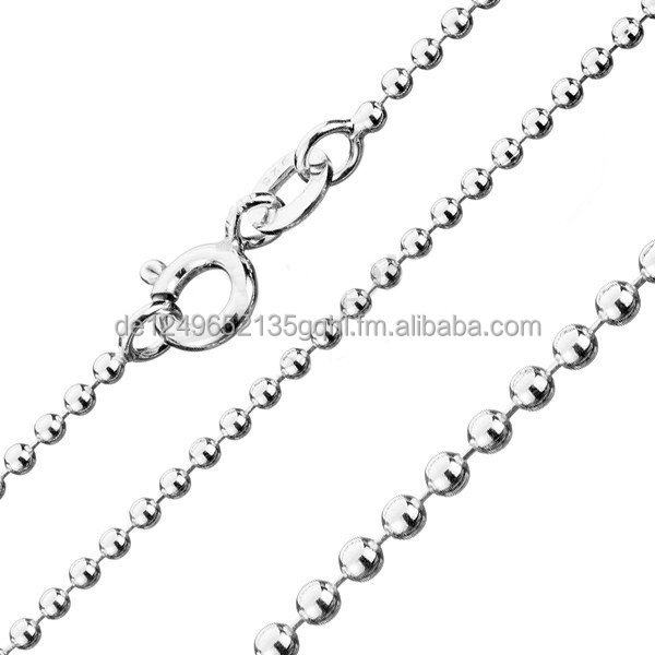 Ball chains Brand new 925 sterling silver 16 18 20 22 24 26 28 30 inch - 1 mm necklaces