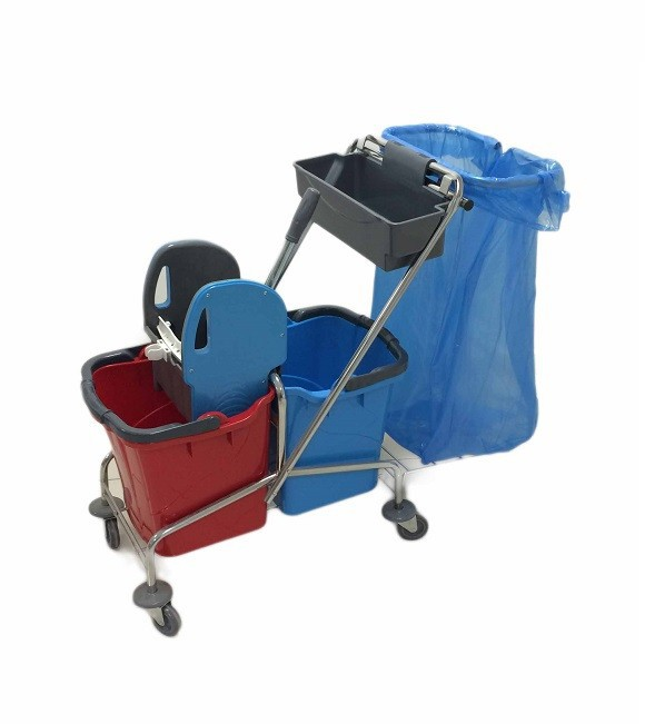 Double Mop Bucket Trolley with Garbage Bag CK753C