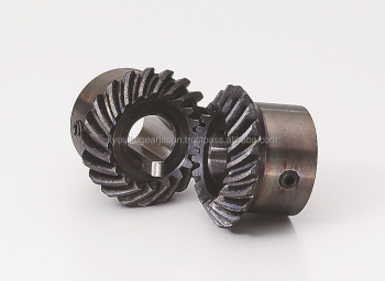 Small hardened spiral miter gear Module 1 Carbon steel Ratio 1 Made in Japan KG STOCK GEARS