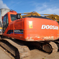 Cheap used Doosan DH220 crawler excavator for sale,Korean DH220 excavator in Shanghai
