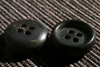 Bulk Production Black Horn Buttons/High quality newest garment accessories horn button for jeans,coat