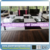 RK white and black floor dancing linoleum flooring installation for sale