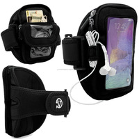 VanGoddy Zippered Running Fitness Armband Universal Phone Case for up to 6 inch Phones