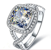3.0 Carat Cushion Cut Engagement Ring Set With Top Cubic Zircon Plated Gold Wholesale Jewelry