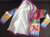 KIDS CARDIGANS LINED WITH POLAR FLEECE