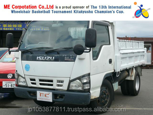 Right hand drive used dump truck prices at reasonable prices ELF 2005