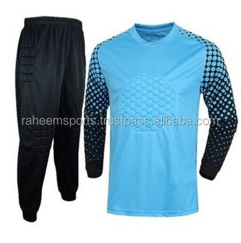 Soccer Uniform Adult Long Sleeve Jersey & Short Pants Goalkeeper Kit