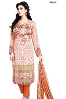 Bewildering Digital Print Work American Crepe Pant Style Un Stitched Formal Wear Churidar Salwar Kameez