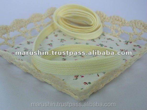 Fashionable and Reliable organic ribbon child underwear with safety made in Japan