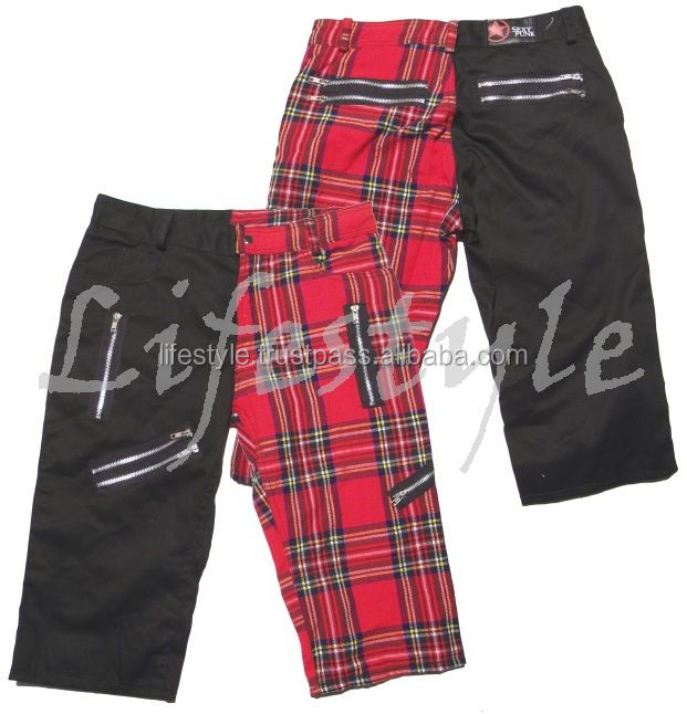 baggy punk pants mens gothic pants gothic leather pants Cyber Goth Pants, Punk Goth Trousers, Gothic