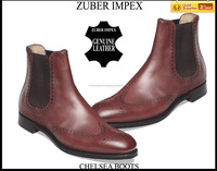 High Quality Leather Shoes for men - Leather Business Chelsea Boots - Luxury Shoes for Men