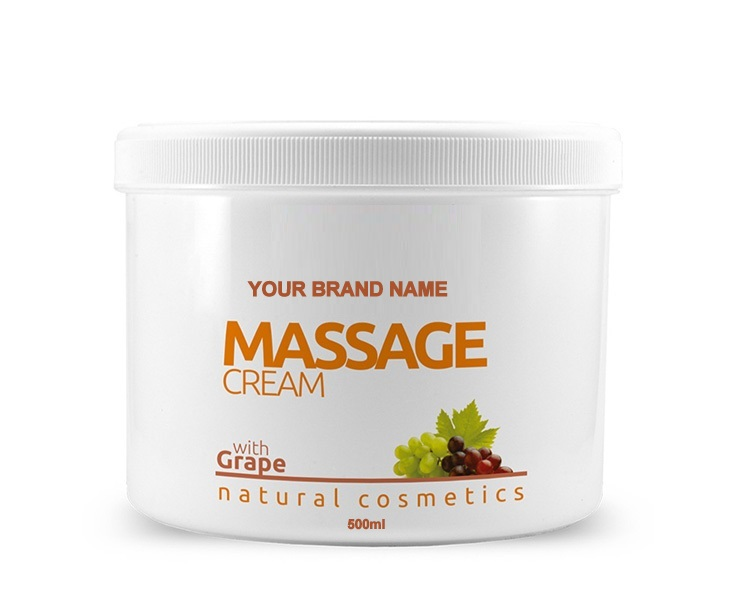 Body Scrub Grape - 500ml. 100% Natural. Private Label Available. Made in EU