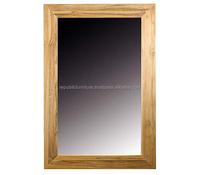 Cheap Price Indonesia Wooden Teak Rectanguler Mirror Manufacturer Furniture