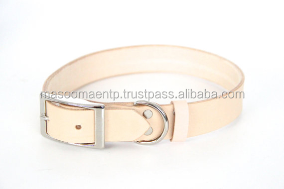 Vegetable Tannery Leather Dog Collar