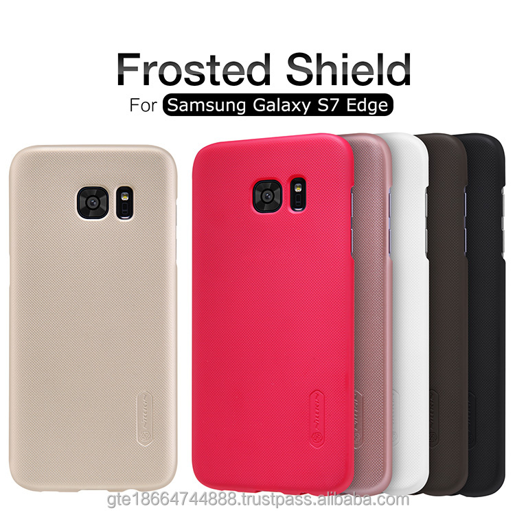 For Samsung Galaxy S7 Edge accessories Super Frosted Shield Original nillkin simple style hard back plastic phone case