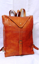 Real leather vintage style backpack ruck sack bag's for laptop