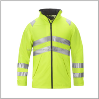 Cheapest price New Men's Waterproof Softshell Reflective Hi-Vis Safety Jacket
