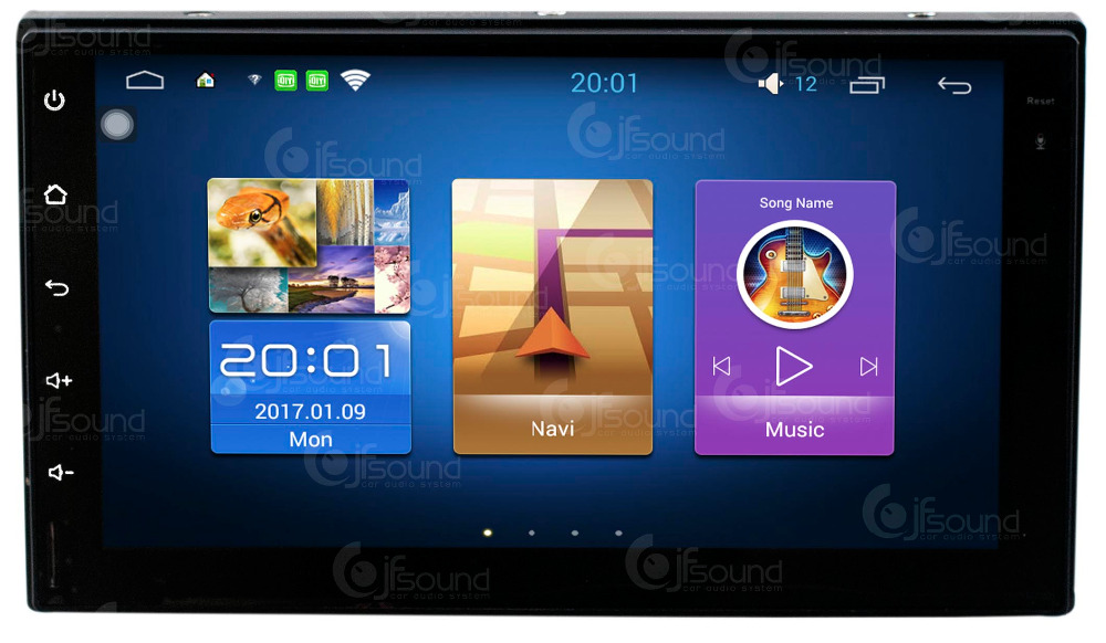"AUTORADIO 2 DIN JFSOUND ANDROID 6.0 GPS BLUETOOTH USB SD FULLTOUCH 7"" FULL HD DIVX DVD MP3 MP4"