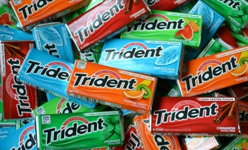 All Brands Of Chewing Gums and tridents