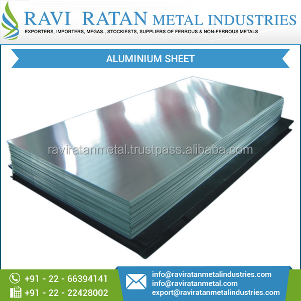High Quality Durable Aluminium Sheet for Industrial Use at Economical Rate
