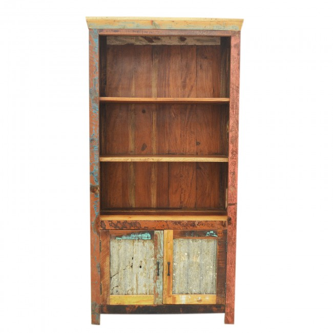 Reclaimed Library Display Bookcase
