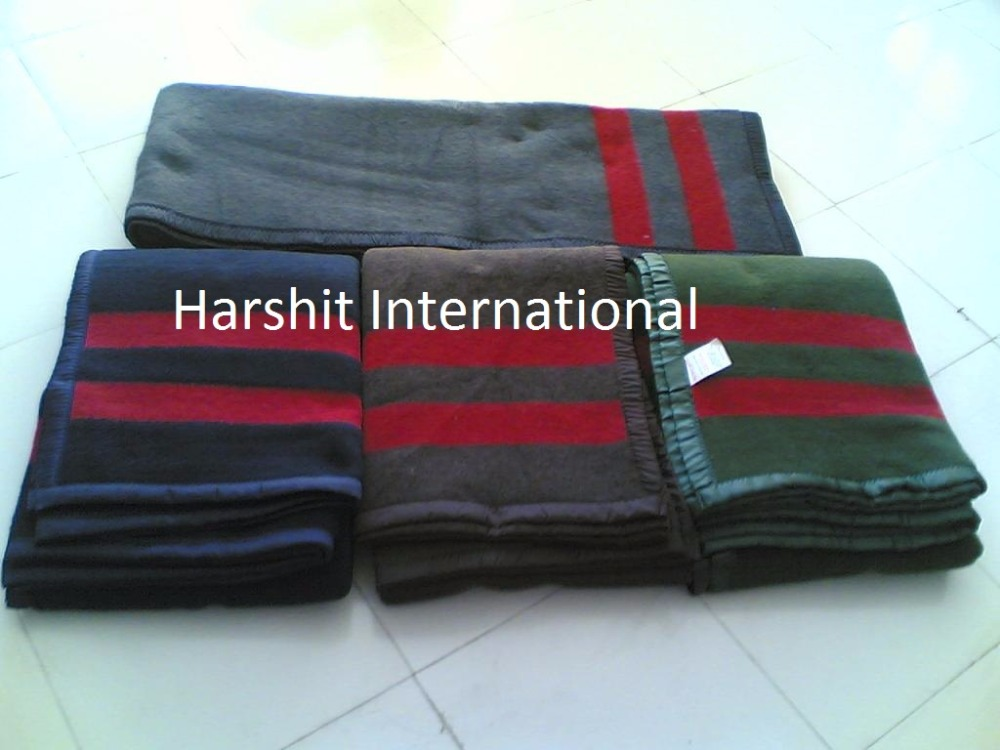 Recycle refugee disaster relief emergency Cheap military woolen blankets