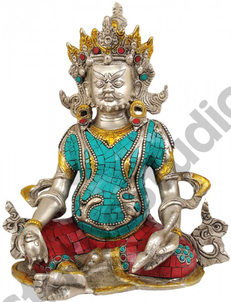 Tibet Buddhist Deity Of Wealth Lord Kubera FengShui Vastu Decor Item 10""