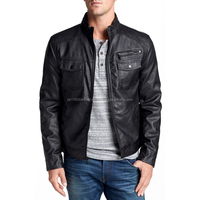 Smart and sensuous leather jacket for men is smart outfit with a sensuous outlook.