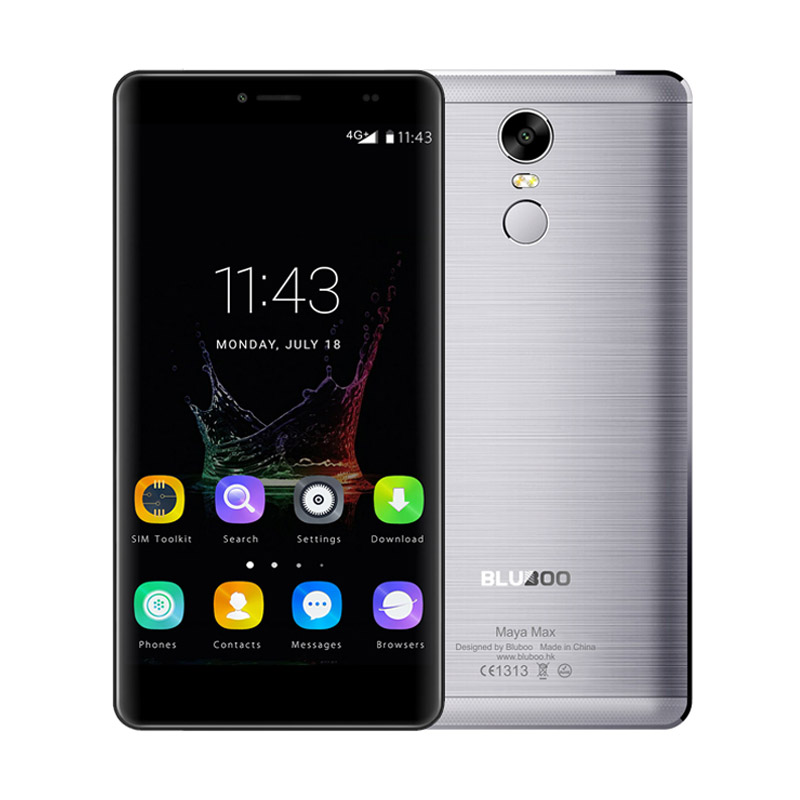 EU DHL Shipping Bluboo Maya Max MTK6750 Octa Core Cell Phone Android 6.0 HD 6.0 Inch Mobile Phone 3G RAM 32G ROM