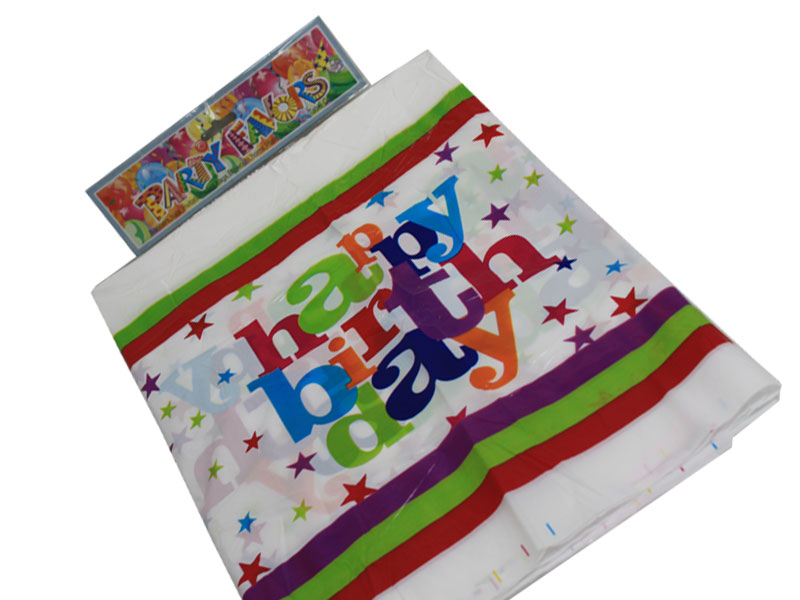 "Table Cloth 70"" Birthday Design"