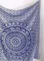 Indian hippie gypsy Bohemian ethnic psychedelic Peacock mandala Wall hanging tapestry