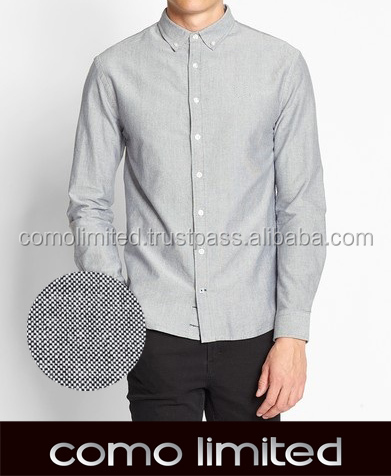 Latest Design - 100% Cotton Oxford Gray Man Shirt
