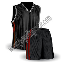 Dazzle Men's Blank Black Basketball Jersey basketball uniform