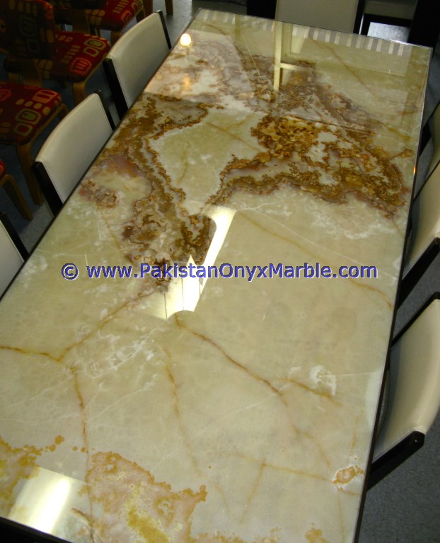 NATURAL STONE LIGHT GREEN ONYX TABLE TOPS COLLECTION