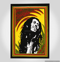 Indian Latest Poster Bob Marley Wall Hanging Wall Decor Tapestry Yoga Mat 40