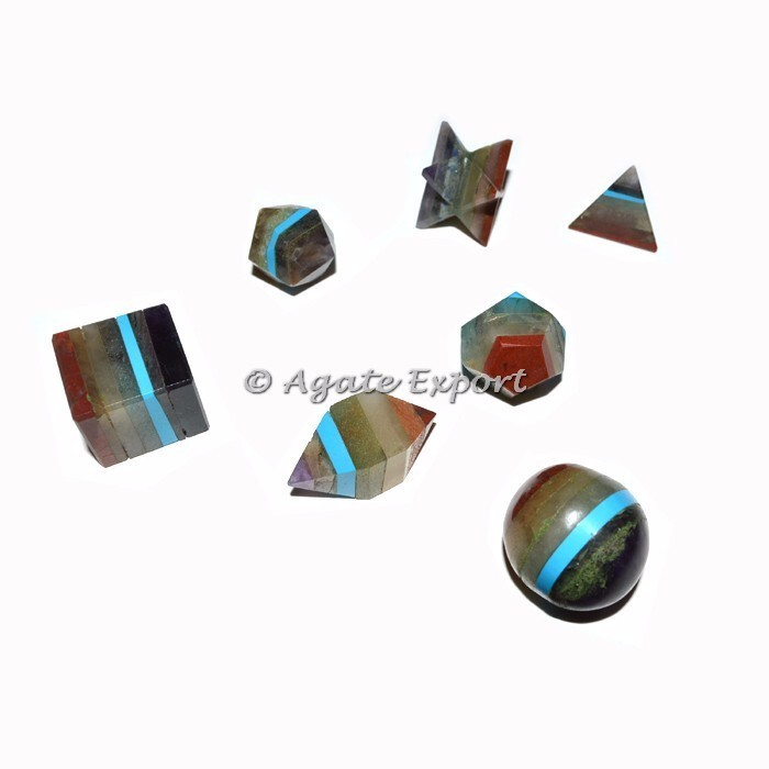Black Tourmaline 5pcs Geometry Set : Top Seller Geometry Set - Wholesaler Agate Export
