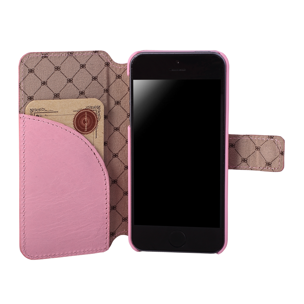 pink leather case for iPhone 5S
