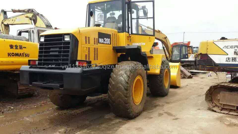 used Komatsu WA200-5 wheel loader, used wa200-5 excavator