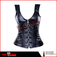 In-style Leather and PVC corsets / garter leather corset / full body leather corset