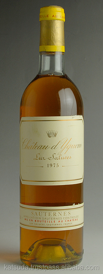 1975 Chateau d'Yquem alcoholic wine brands of white wine