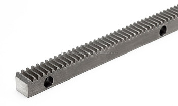 Rack gear with bolt holes Module 1.0 Carbon steel Length 300mm Made in Japan