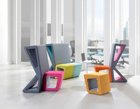 ARTE COMO - (SIARRA) semi close collaboration furniture, partition, stool, modern office furniture