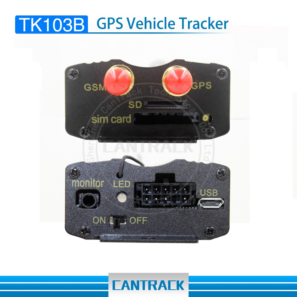 TK103B TK103A Original Door alarm,Overspeed Alarm, Cut Engine Car GPS Tracker