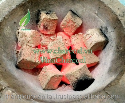 Odorless smokeless white ash coconut charcoal