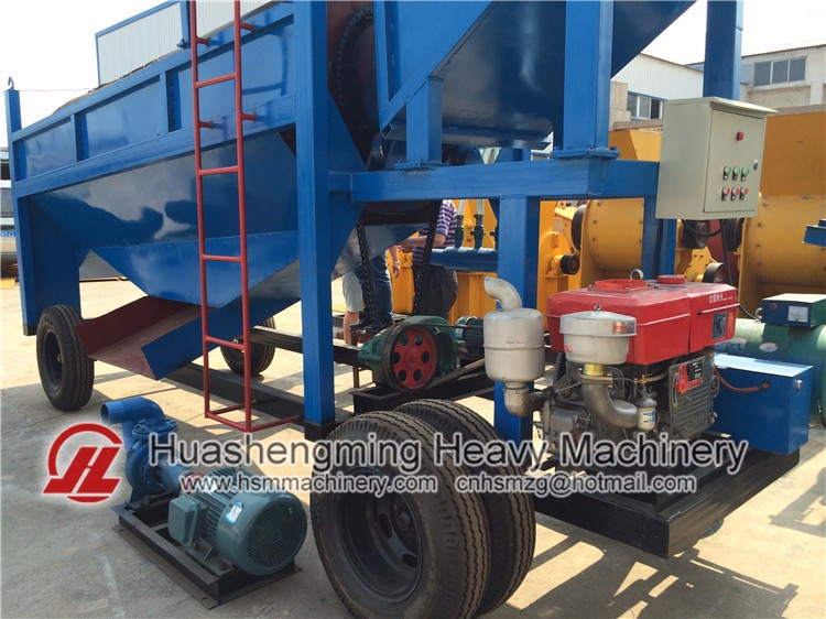 HSM ISO CE China Top Manufacture Gold Trommel Wash Plant For Sale