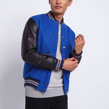 Mens jackets with genuine leather sleeves / varsity jackets / baseball jackets for men Wholesale